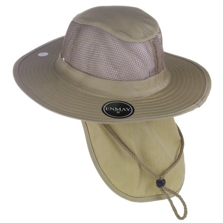 e6f97565 Enimay - Enimay Outdoor Hiking Fishing Snap Brim Hat With Neck Flap ...