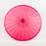 "Quasimoon 32"" Hot Pink Parasol Umbrella, Premium Nylon by PaperLanternStore"