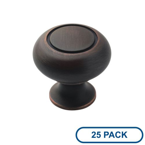 Amerock BP53011-25PACK Allison Value Hardware 1-1 4 Inch Diameter Mushroom Cabin by Amerock
