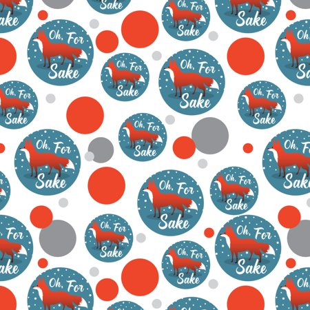 Oh For Fox Sake Funny on Teal Premium Gift Wrap Wrapping Paper - Premium Sake