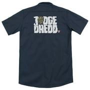Judge Dredd Logo (Back Print) Mens Work Shirt