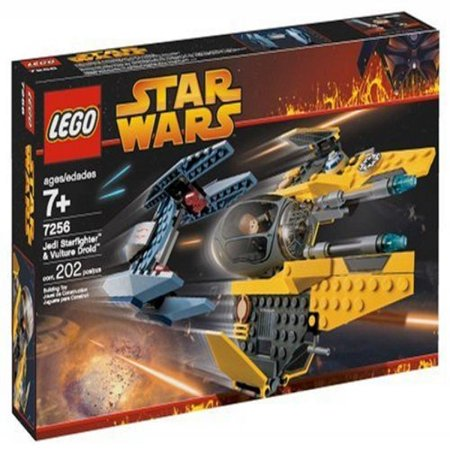 Star Wars Revenge Of The Sith Jedi Starfighter   Vulture Droid Set Lego 7256