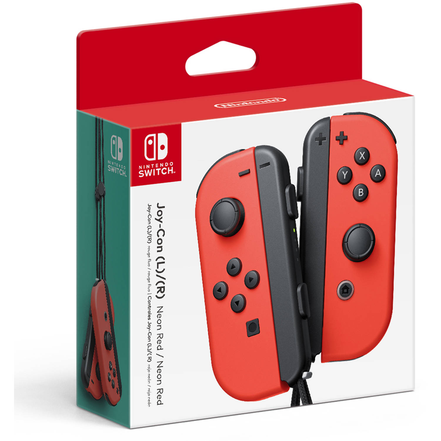 Nintendo Switch Joy-Con L/R Controller Pair (Red), HACAJABAA