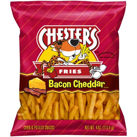 Chester's? Fries Bacon Cheddar Flavored Corn & Potato Snacks 4 oz. Bag