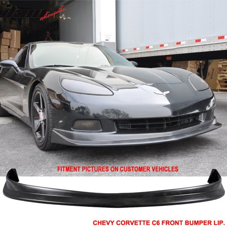 Fits 05-13 Corvette C6 Urethane Front Bumper Lip Spoiler Splitter PU Body (Lip Spoiler Kit)