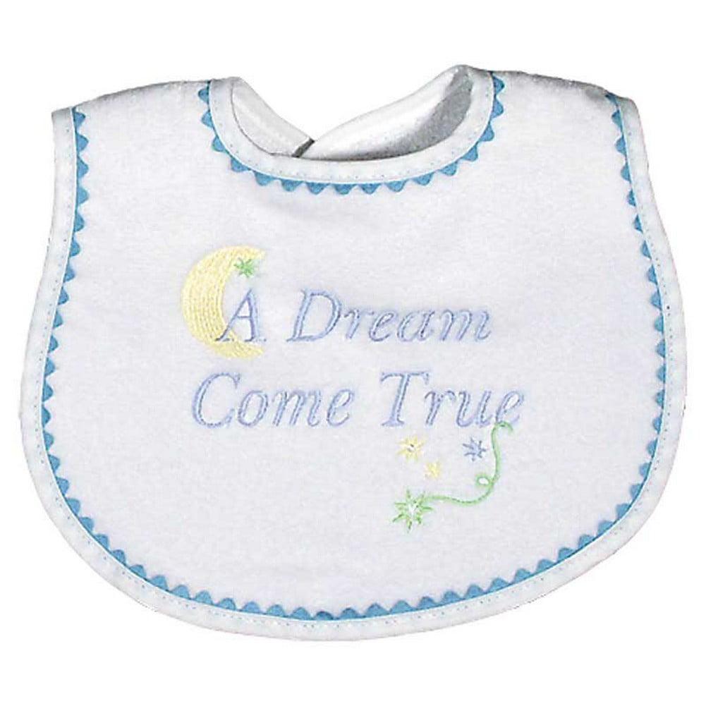 "Raindrops Baby Boys ""A Dream Come True"" Embroidered Bib, Blue by Raindrops"
