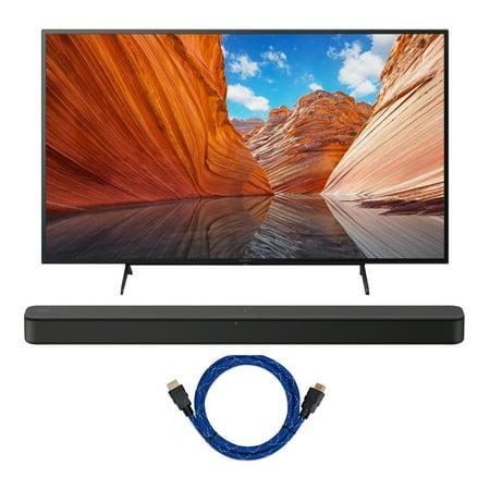 Sony KD43X80J BRAVIA 43-Inch 4K Ultra HD HDR LED Smart TV with Soundbar Bundle
