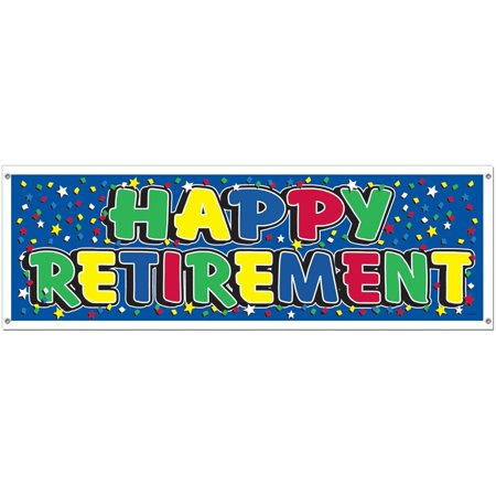 Happy Retirement Sign Banner Party Accessory (1 count) (1/Pkg), This item is a great value! By - Happy Retirement Sign