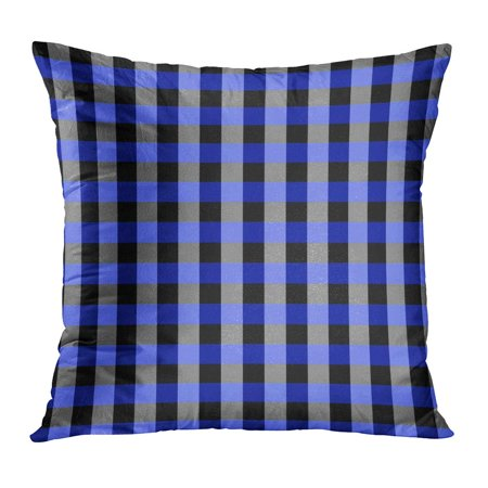 ECCOT Abstract Blue Tan and Lilac Checkerboard Minor Optical Check Chess Gingham Graphic Grid Pillow Case Pillow Cover 16x16 inch