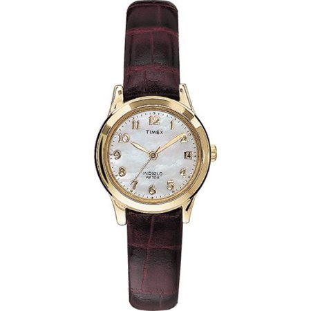 Women's T21693 Elevated Classics Dress Burgundy Leather Strap Watch ()