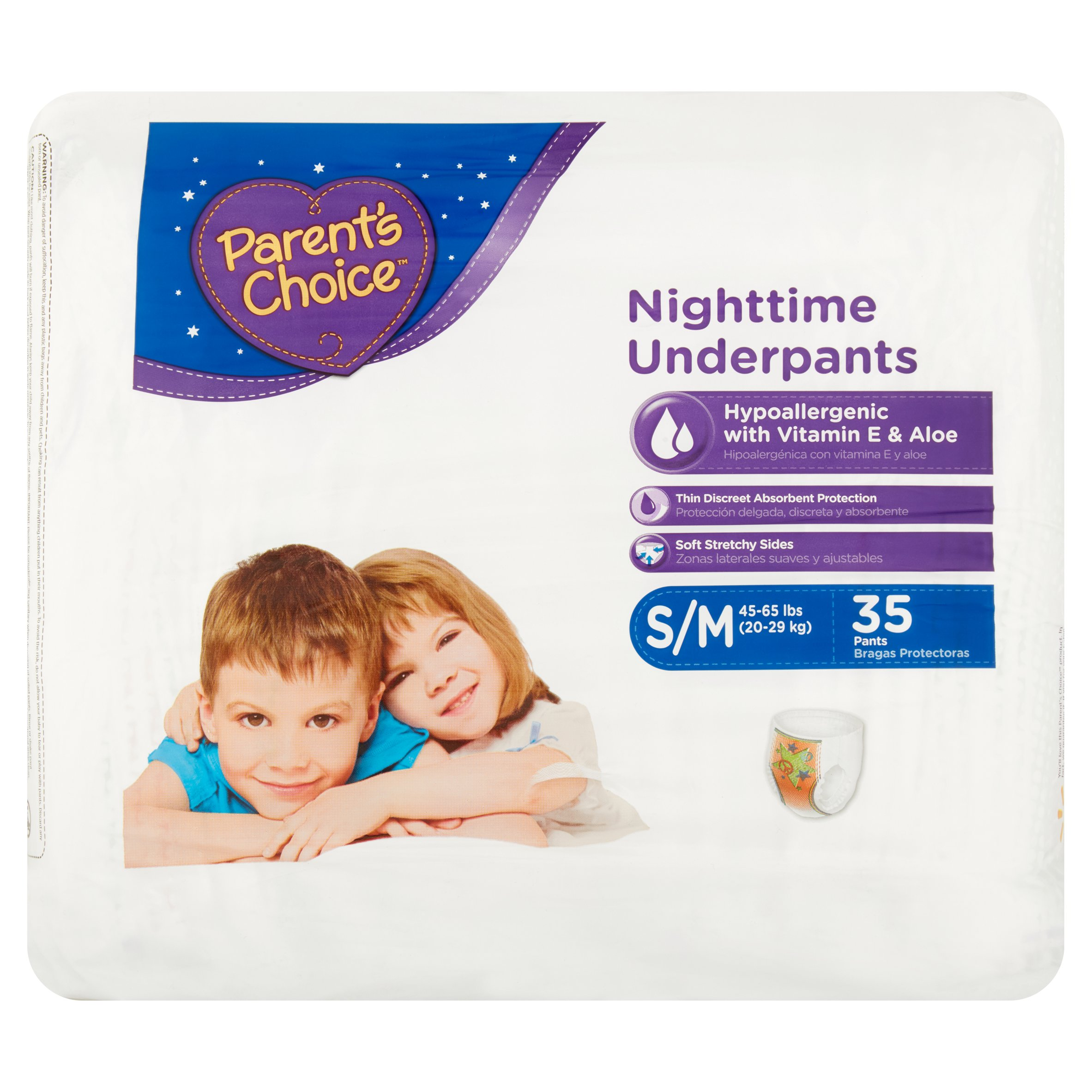 Parent's Choice Nighttime Underpants (Choose Size)