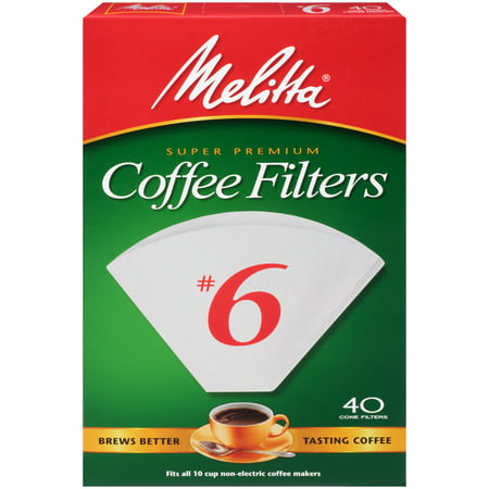 (11 Pack) Melitta #6 White Cone Coffee Filter, 40 (Melita Coffee Filters)