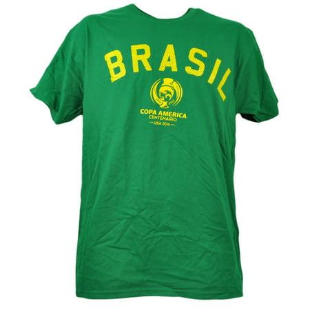 Brasil Copa America Centenario USA 2016 Tshirt Tee Mens Soccer Short (Clothing Stores In Destiny Usa)