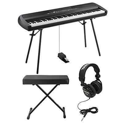 KORG SP280BK 88-Key Digital Piano and Speaker with Knox X...