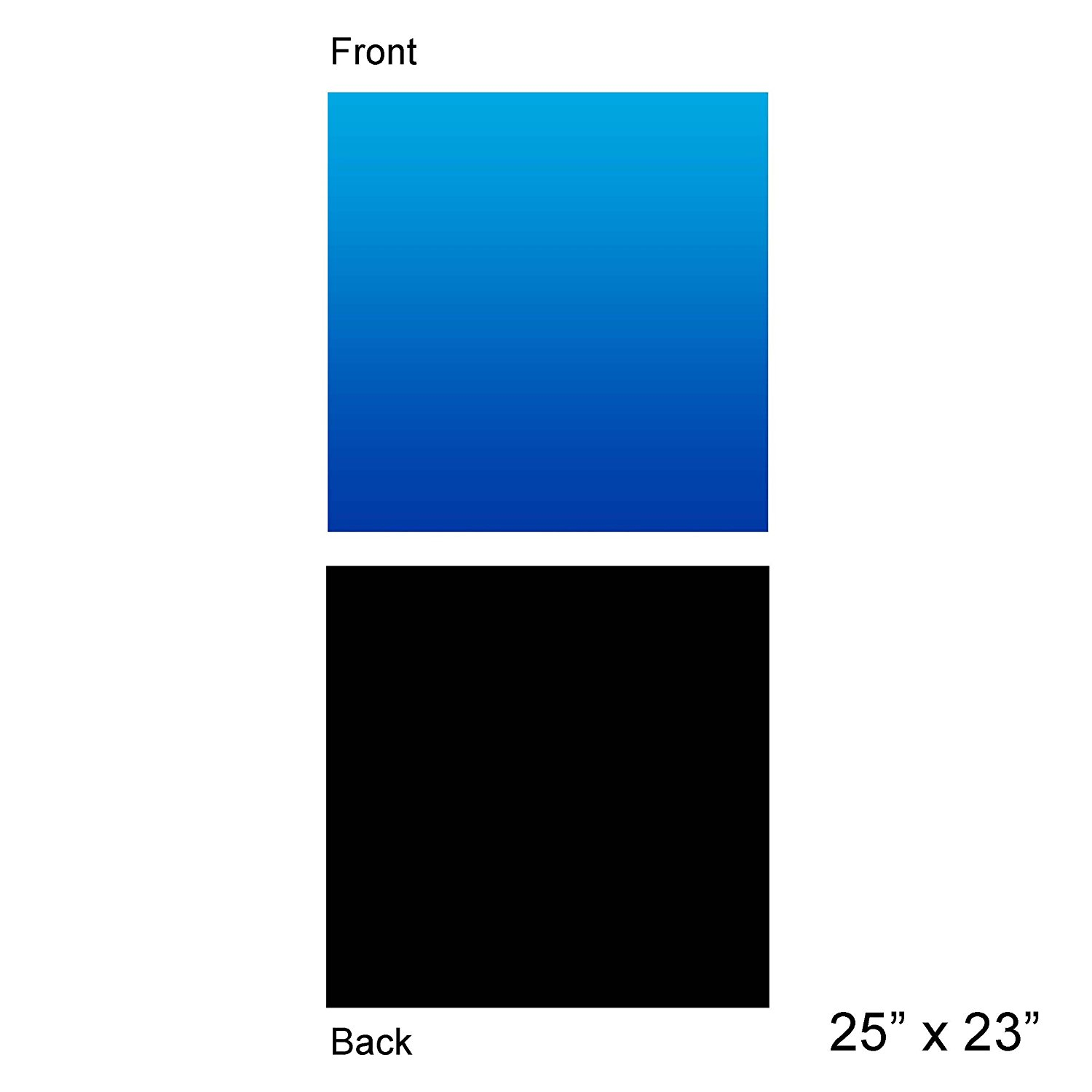"""Aquarium Background Ocean Blue Black Double sides 24"""" by 24"""" (24""""X24""""), Double sided- One... by"""