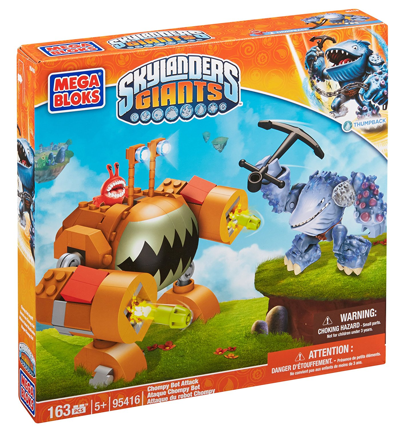 Skylanders Chompy Bot Attack, Buildable enemy mech with Red Chompy driver By Mega Bloks Ship from US