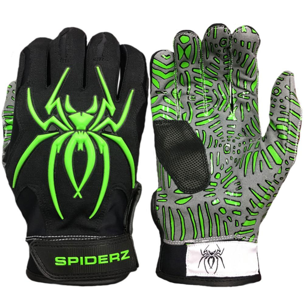 Spiderz Hybrid Tac Palm Baseball/Softball Batting Gloves