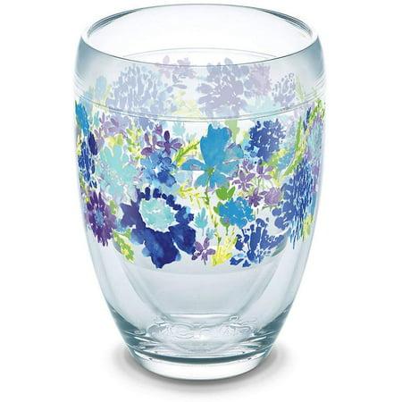 Tervis Stemless Wine Glass - 9oz - Fiesta Purple Floral - Purple Wine Company