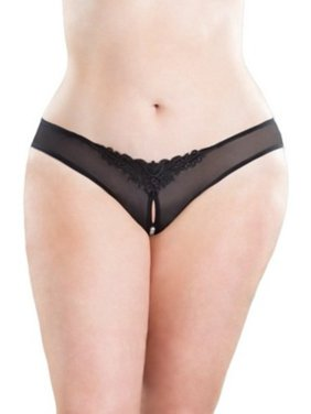 1ce6f95b64 Product Image Oh La La Cheri Queen Pearled Crotchless Thong 2066X Black