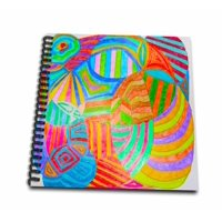3dRose A doodle done in colored pencils with bright hues - Drawing Book, 8 by 8-inch