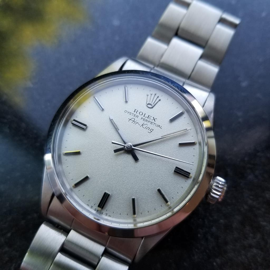 Rolex Men S Oyster Perpetual 5500 Air King Stainless Steel C 1970 Swiss Ms125