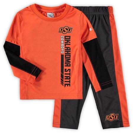Oklahoma State Cowboys Colosseum Toddler We Got Us Long Sleeve T-Shirt and Pants Set - Orange/Black
