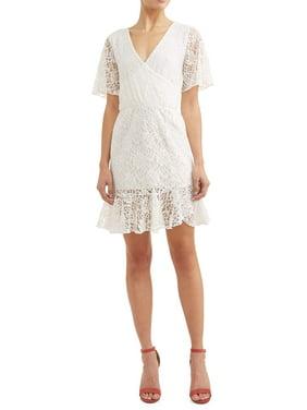 c68e3129c45cf Product Image Women's Ruffled Layover Eyelet Dress