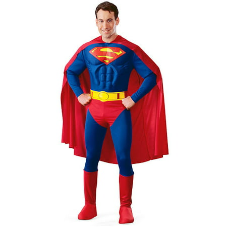 Superman Deluxe Adult Halloween Costume - Diy Superman Halloween Costume
