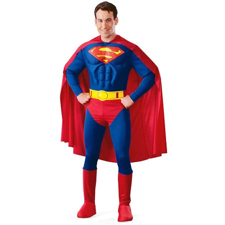 Superman Deluxe Adult Halloween Costume](Superman Costume For Adults)