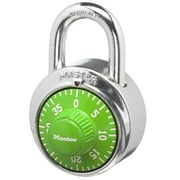 Master Lock 1505D Combination Dial Padlock, 1-7/8 in. (48mm) Wide, Assorted Colors