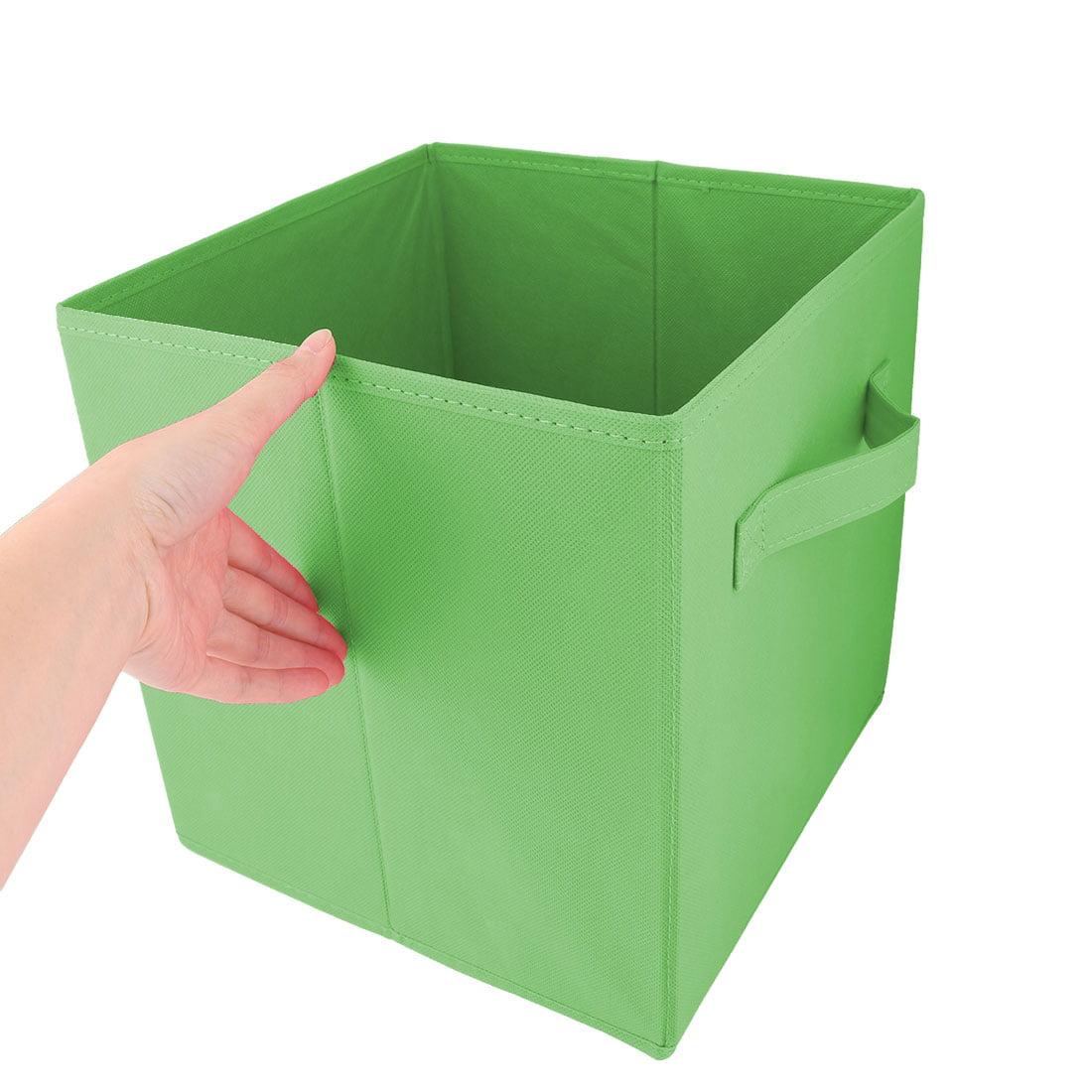 Apartment Non-woven Fabric Foldable Books Cosmetics Holder Storage Box Green - image 1 of 5