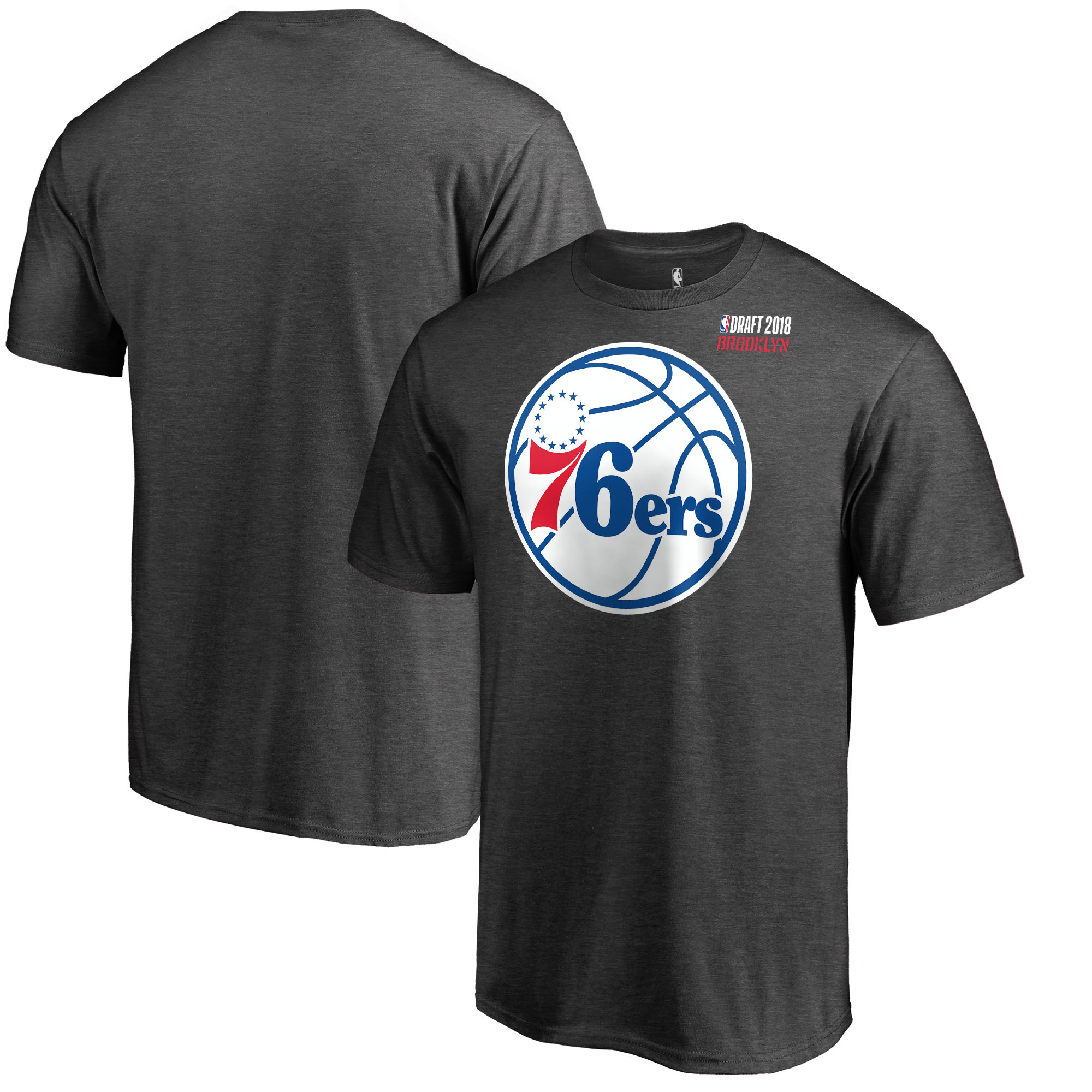 Philadelphia 76ers Fanatics Branded 2018 NBA Draft BKLYN T-Shirt - Heather Gray