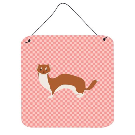 Weasel Blue Check Wall or Door Hanging Prints, 6 x 6 in. - image 1 of 1