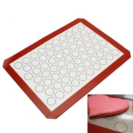 16X11 Nonstick Macaron Silicone Backing Mat Bake Keks Tray Sheet Mould