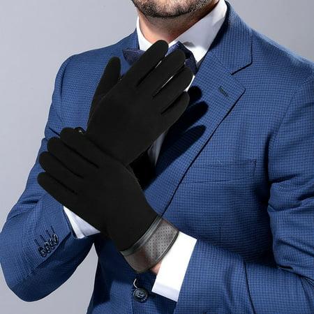 Men Winter Cotton Gloves-Vbiger Touch Screen Gloves Driving Gloves Anti-slip Sports