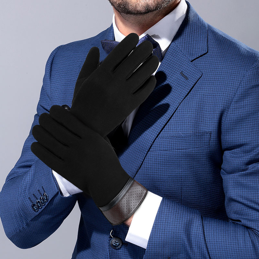 Men Winter Cotton Gloves-Vbiger Touch Screen Gloves Driving Gloves Anti-slip Sports Gloves