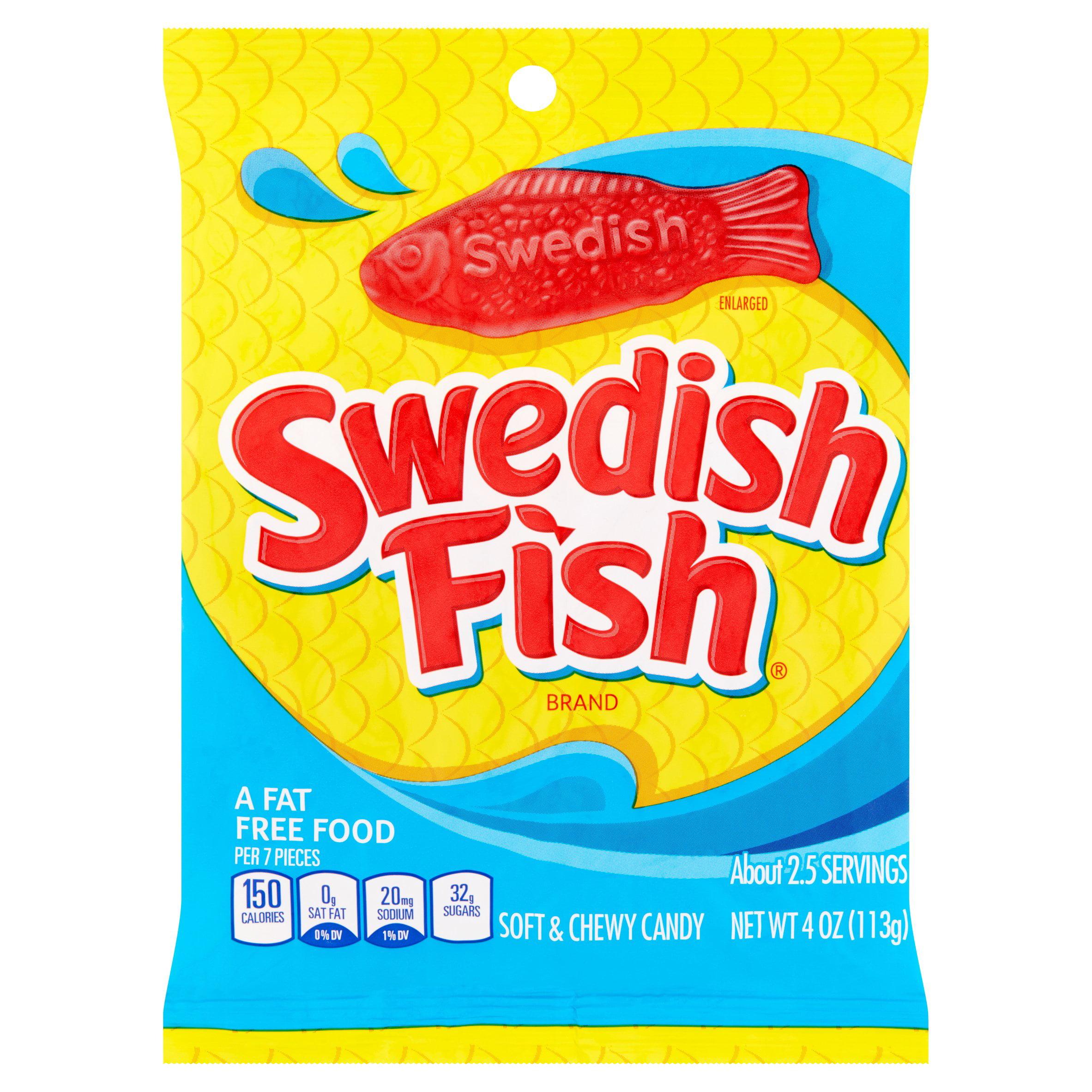 Swedish Fish Soft Candy Berry Fat Free - Walmart.com