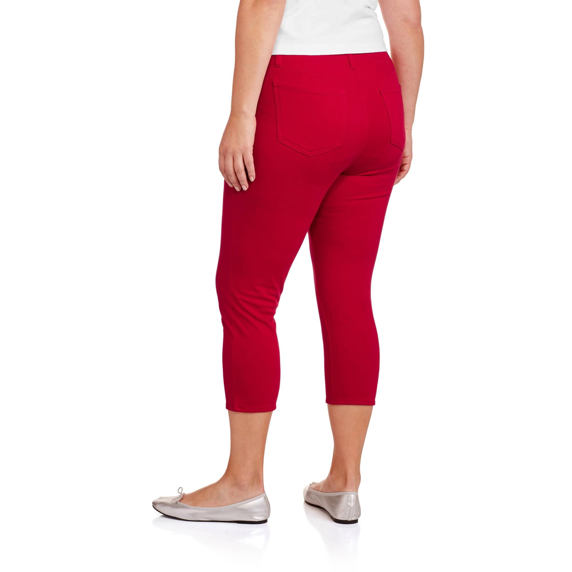 ee52758cea656 Faded Glory - Women's Plus-Size Capri Jeggings - Walmart.com