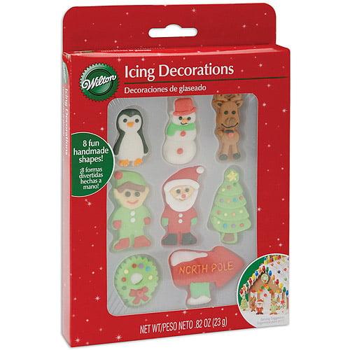 Wilton Icing Decorations, 7/pkg, Christmas