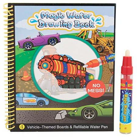 Techege Toys Learn and Play Safe Non-Toxic Stain-Free Ink-Free Magic Water Drawing Book for - Magic Ink