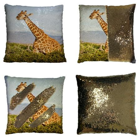 Gckg Mountain Pillowcase African Wild Animal Cute Lovely Giraffe In