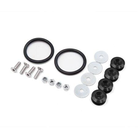 4 Pcs Black Metal O Shape Double Flat Washer Ring Car Fender Engine Gasket Double Cab 4 Piece