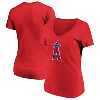 Women's Majestic Red Los Angeles Angels Top Ranking V-Neck T-Shirt