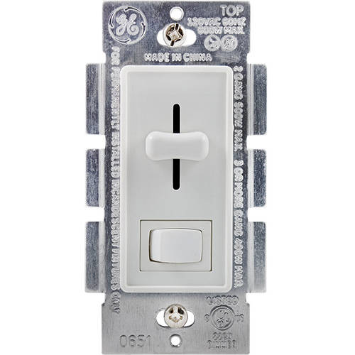GE Toggle/Slide On/Off Dimmer, White