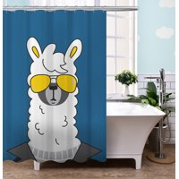 "Your Zone 72"" x 72"" Llama Shower Curtain"