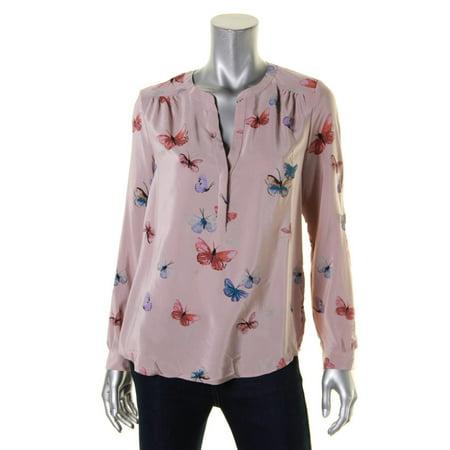 edd5d6c961995 Joie - Joie Womens Carita Silk Butterfly Print Blouse - Walmart.com