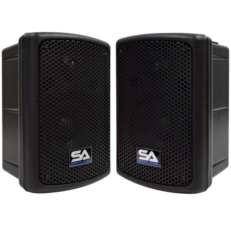 "Seismic Audio 2 POWERED 8""  PA SPEAKERS Active DJ Band - PWS-8Pair"