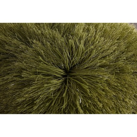 Decorative Shaggy Pillow with Lurex.  100% Polyester. Exact dimensions are 18