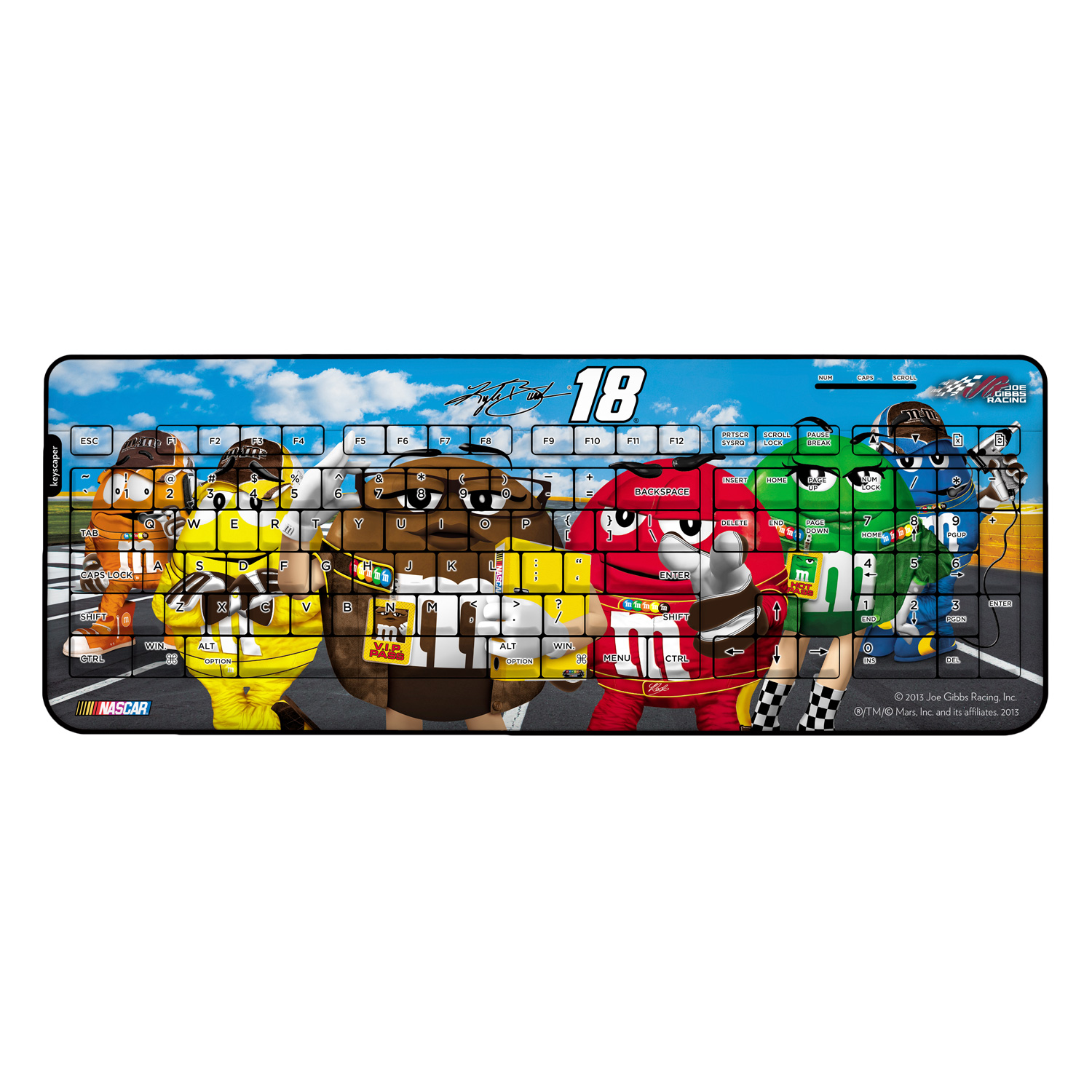 Kyle Busch Wireless USB Keyboard NASCAR