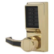 KABA SIMPLEX LL1011-03-41 Push Button Lockset,Bright Brass